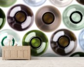 Empty Wine Bottles wallpaper mural living room preview