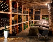 Wine Bottles mural wallpaper kitchen preview