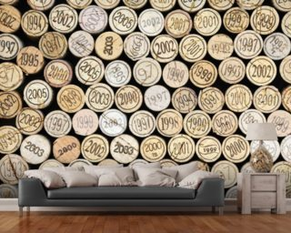 Wine Corks Stacked wall mural