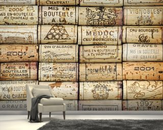 Wine Corks Wallpaper Mural Wall Murals Wallpaper