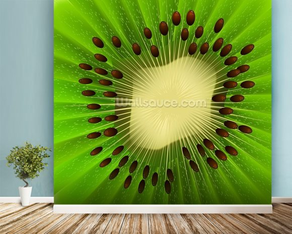 Kiwi Fruit wall mural room setting