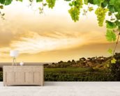 Vineyard wallpaper mural living room preview