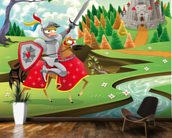 Brave Knight, Castle and Dragon wall mural kitchen preview