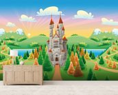 Medieval Castle wallpaper mural living room preview