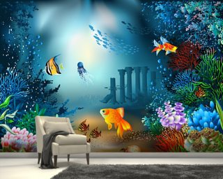 Underwater World Wall Mural Part 21