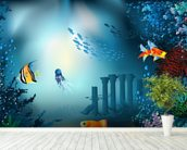 Underwater World wall mural in-room view