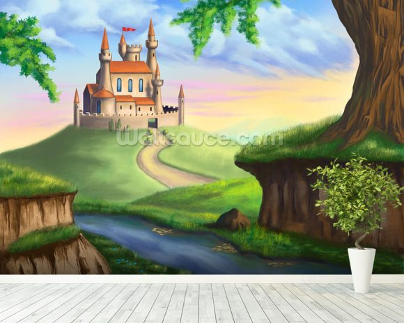 Fantasy Castle wallpaper mural room setting