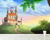 Fantasy Castle wallpaper mural in-room view