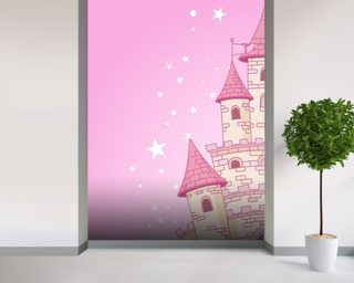 Princess wallpaper wall murals wallsauce usa for Fairy castle mural