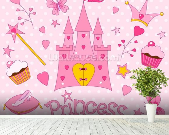 Princess Castle Wall Mural Room Setting Part 41