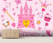 Princess Castle wall mural living room preview