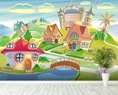 Fairytale Land and Castle wall mural in-room view