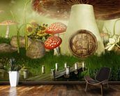 Toad Stool House wallpaper mural kitchen preview
