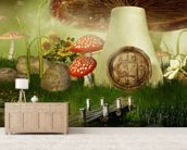 Toad Stool House wallpaper mural living room preview