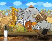 Wild Animals wall mural kitchen preview