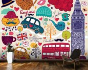 Kids London Montage wall mural kitchen preview