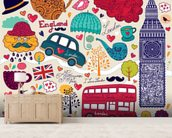 Kids London Montage wall mural living room preview