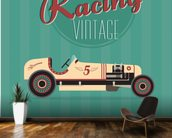 Vintage Racing Car wallpaper mural kitchen preview