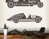 Vintage Racing mural wallpaper kitchen preview
