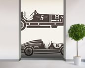 Vintage Racing mural wallpaper in-room view