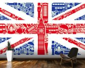 Union Jack Montage mural wallpaper kitchen preview