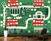London Buses wall mural kitchen preview