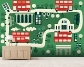 London Buses wall mural living room preview