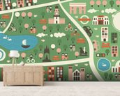 Hyde Park Map wallpaper mural living room preview