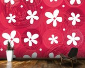 Red & White Flowers wall mural kitchen preview