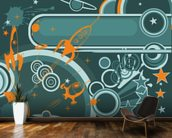 Space Abstract mural wallpaper kitchen preview
