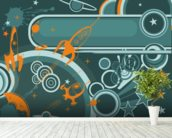 Space Abstract mural wallpaper in-room view