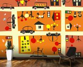 Autumn Street Map wall mural kitchen preview