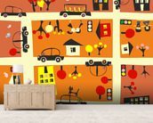 Autumn Street Map wall mural living room preview