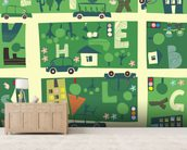 Alphabet Streets wall mural living room preview