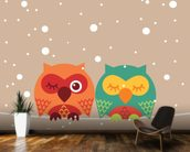 Two Owls wallpaper mural kitchen preview