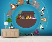 Noah's Ark wall mural living room preview