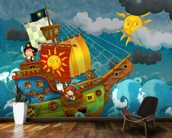 Pirate Ship mural wallpaper kitchen preview