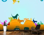 Dinosaurs Illustration wall mural kitchen preview