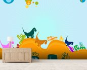 Dinosaurs Illustration wall mural living room preview
