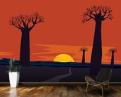 Boab Trees wallpaper mural kitchen preview
