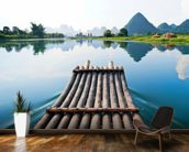 Bamboo Rafting on Li River wall mural kitchen preview