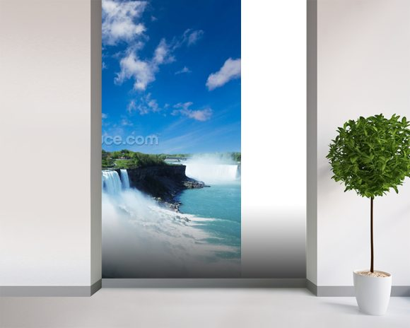 Niagara wall mural room setting