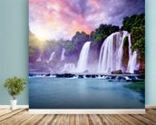 Banyue Waterfall wallpaper mural in-room view
