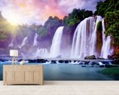 Banyue Waterfall wallpaper mural living room preview