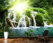 Forest Waterfall mural wallpaper kitchen preview