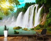 Waterfall wallpaper mural kitchen preview