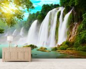 Waterfall wallpaper mural living room preview