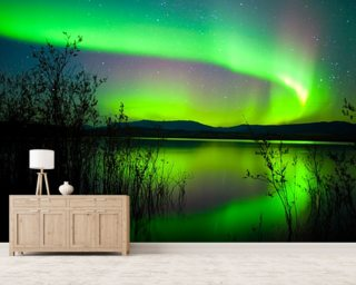 Northern Lights Mirror Wall Mural Wall Murals Wallpaper