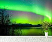 Northern Lights Mirror wall mural in-room view