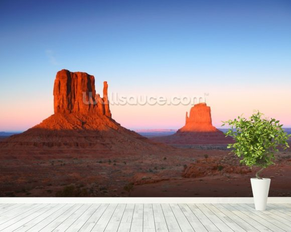 Monument Valley wallpaper mural room setting